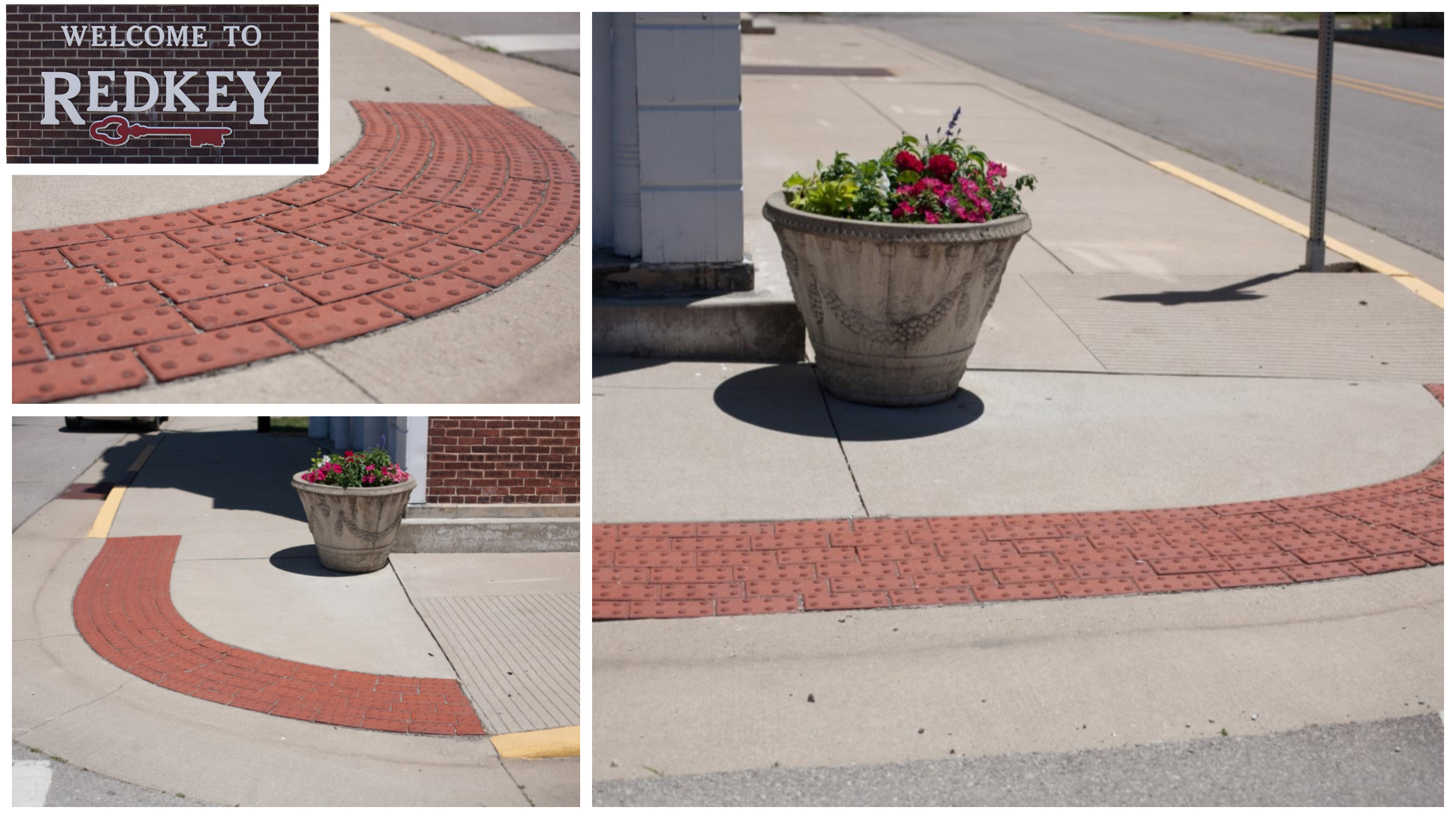 Sidewalk Approaches, Redkey, IN (Click for gallery)